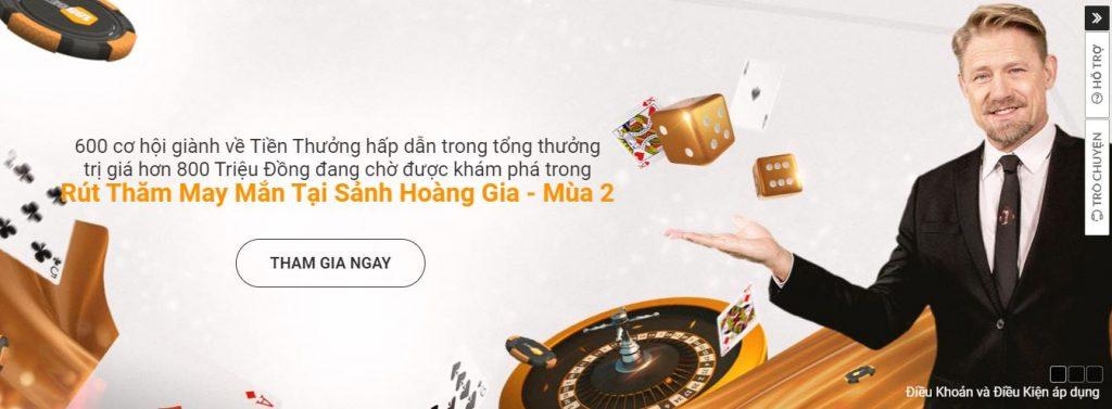 Khuyen mai 188BET Rut Tham May Man Sanh Hoang Gia - Mua 2 hinh 1