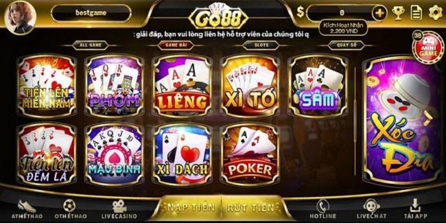 Huong dan quy tac choi game bai tai Go88