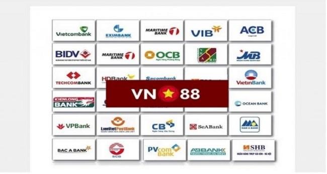 Các ngân hàng hỗ trợ nạp tiền Vn88 nhanh nhất