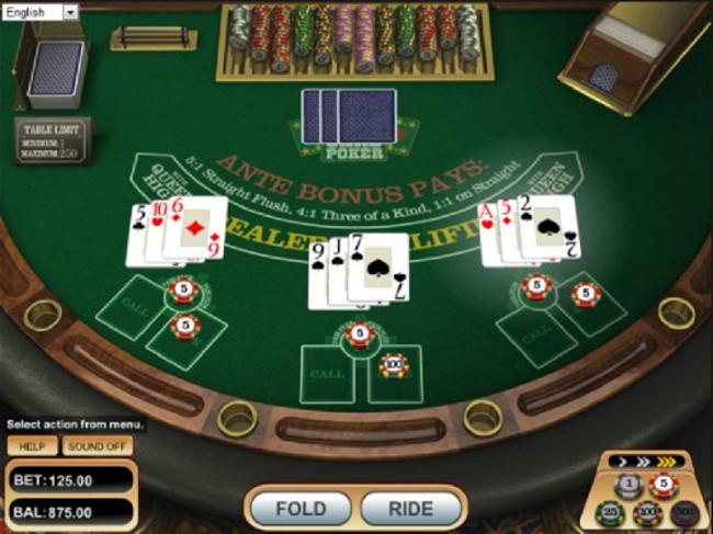 Cach choi Poker 3 la tai W88