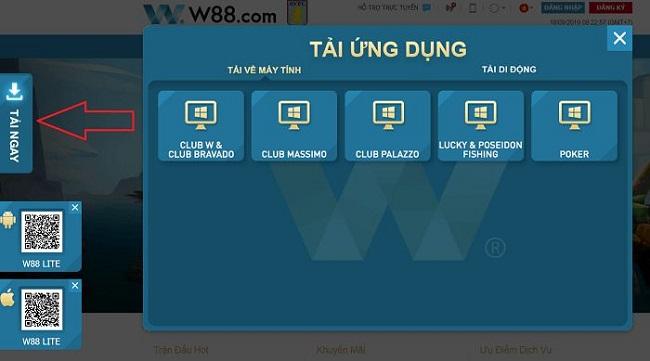 Cac thao tac tai ung dung W88 cho IOS